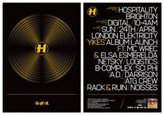 ATG Crew RacknRuin & Noisses at Hospitality Brighton HOS.12.02.11 – A.T.G #illustration #flyer #typography