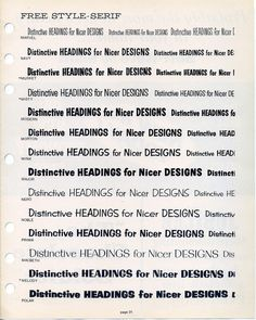 This is a specimen of Filmotype fonts waiting to be revived.
