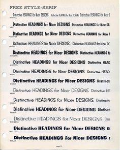 This is a Filmotype font specimen #type #specimen #typography