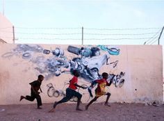 Juxtapoz Magazine - New Work from Laguna in Senegal | Street Art #graffiti #photography
