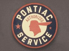 Dribbble - Pontiac Service Patch by Jordan Mahaffey #logo #patch #service #pontiac