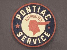 Dribbble - Pontiac Service Patch by Jordan Mahaffey #logo #patch #service #pontiac