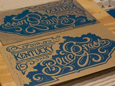 Kentucky Bluegrass   Block Print