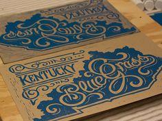 Kentucky Bluegrass Block Print #lettering #print #letterpress #block #typography