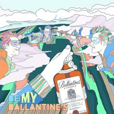 Todos os tamanhos | Ballantine's not Valentine's | Flickr – Compartilhamento de fotos! #design #trace #illustration #colors #pianofuzz #ballantines