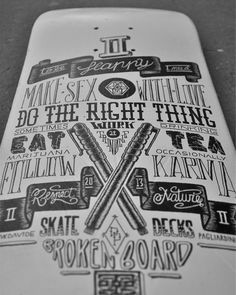escapekit: Type boards Italy based... | SerialThriller™ #deck #skate #typography