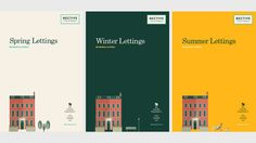 Bective Property List Covers #branding #print #design #brand #illustration #work #cool