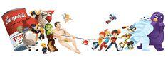 Art vs Advertising - Melanie Matthews #illustration #cambells #art
