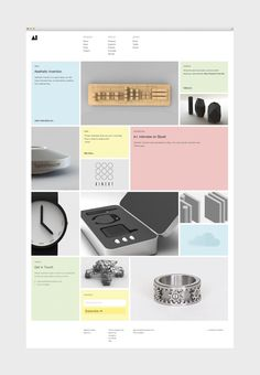 "Nice grid interface ""Aesthetic Invention"" by Hatch, Inc.  #grid #interfaces"