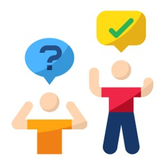 See more icon inspiration related to question, doubt, group, mind, thinking, questions, people, asking, doubts, persons and business and finance on Flaticon.