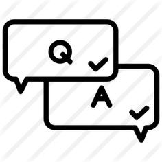 See more icon inspiration related to q&a, shapes and symbols, question mark, customer service, answer, faq, communications, education, help, question, speech bubble, bubble speech, information and button on Flaticon.