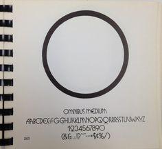 Daily Type Specimen | Omnibus, another weird 1970s/80s twist on updating... #type #specimen #typography