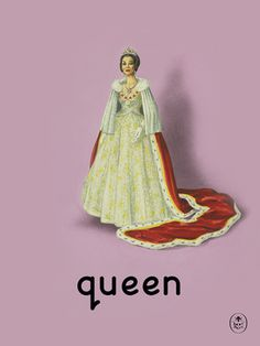queen Art Print by Ladybird Books Easyart.com #vintage #artprints #print #design #retro #art #bookcover