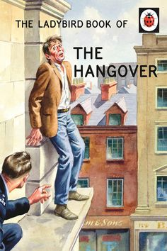 hangover, beer, book, cover, ladybird