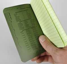 "#954 ""FIELD FLEX"" TACTICAL GREEN ALL WEATHER MEMO BOOK, POCKET SIZE :: HICKOREE'S HARD GOODS"
