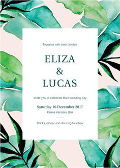 Tropics Designs #paperlust #weddinginvitation #weddingstationery #weddinginspiration #design #nature #tropics #tropical #paper #cards #prin