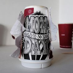 Monday, you came so soon. #coffee #lettering #cup #typography