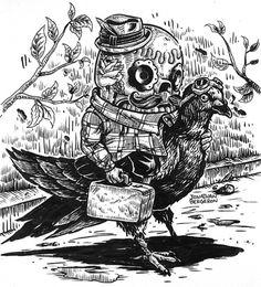 Jonathan Bergeron #illustration #crap #johnny
