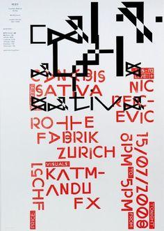 we find wildness: David Keshavjee & Julien Tavelli #design #poster #typography