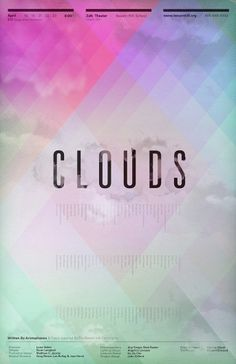 Clifford Design / Illustration / Photography - Clouds Poster #clouds #design #graphic #poster