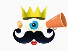 Coolness Factor #crown #erdokozi #branding #icon #motion #moustache #eye #colorful #erik #logo #factor #cool