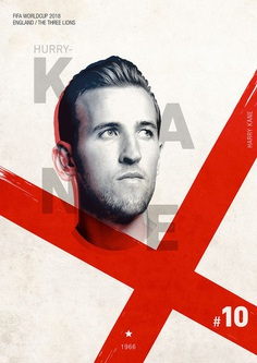 FIFA WORLDCUP 2018 on Behance / Soccer Poster / England / Harry Kane