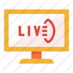 See more icon inspiration related to tv, live tv, gridiron football, live sports, sports and, sports and competition, Broadcast, news report, american football, live, entertainment, electronics, devices, news, television, communications and rugby on Flaticon.