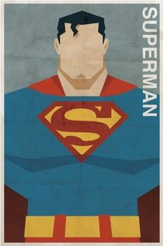 Vintage Style Comic Character Posters | Paper Crave #superman #vintage #poster