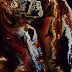Keith Tyson. Nature painting, Mixed Media on Aluminium