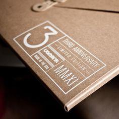 Ugmonk — 3RD ANNIVERSARY SET (LIMITED EDITION) #typography #black #screen printing #shirt
