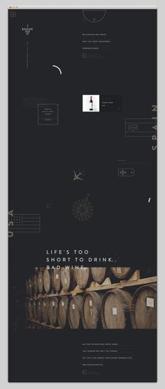 black, wine, barrel, website, web design