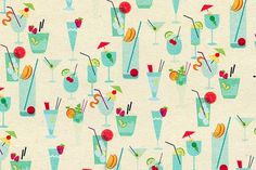 design work life » cataloging inspiration daily #illustration #pattern #drinks