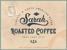 Brooks Brothers Typeface #vintage #font #typeface #coffee #label #packaging #stamp