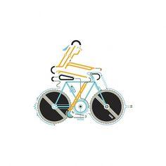 Leandro Castelao / Bike #illustration #design #graphic #bike