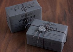 Hudson Made Worker's Soap - The Dieline #packaging