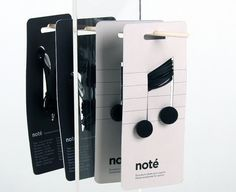 Note Earphones – Packaging inspiration on MONOmoda #packaging #music #earphones