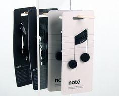 Note Earphones – Packaging inspiration on MONOmoda #packaging #music #earphones