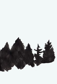 dannysturgess.tumblr.com #white #black #illustration #poster #and #painting #trees