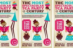 Vancouver Graphic Designer and Photographer #invitation #typography #circus #vintage #tea #ticket