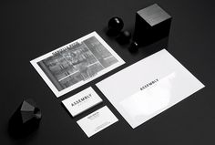 duo d uo | creative studio | Assembly Agency – branding #foiling #gloss #business #design #black #collateral #cards