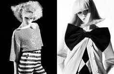 Numero Apr 2009 by Sebastian Kim #white #sebastian #kim #black #photography #and #fashion