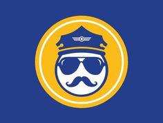 HRL Pilots Wiffleball : Matt Travaille : Graphic Design | Minneapolis #aviator #wings #travaille #color #pilots #gold #logo #2 #wiffleball