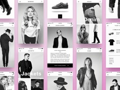 Black and White Mobile Retail Concept