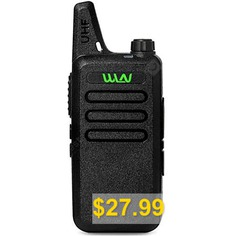 WLN #Mini #Handheld #Walkie #Talkie #Radio #Communicator #- #BLACK