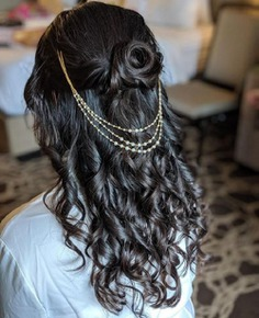 Rose Twisted Bridal Hairstyle