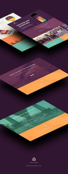 TriplAgent Branding and Design #flat #design #web #ui