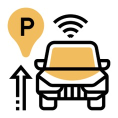 See more icon inspiration related to park, car, wifi, sensor, parking sensor, sensors, intelligence, electronics, auto, radar, parking and security on Flaticon.