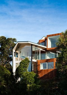 Seaview House / Parsonson Architects #house #home #wood #architecture #trees
