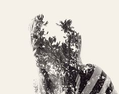 We Are Nature – Multiple Exposure Portraits Vol. II on the Behance Network #multiple #we #exposure #nature #double #are