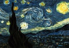 ERNESTO LAGO blog - Starry Night by Vincent van Gogh #starry #animated #gogh #van #color #night #video #painting #vincent